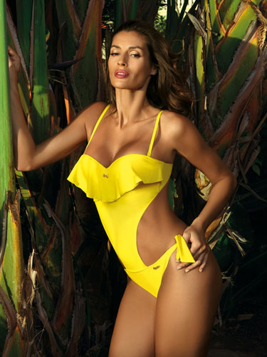 Costum de baie Carmen Yellow