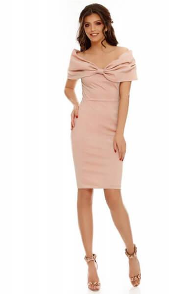 Rochie midi Rosana roz