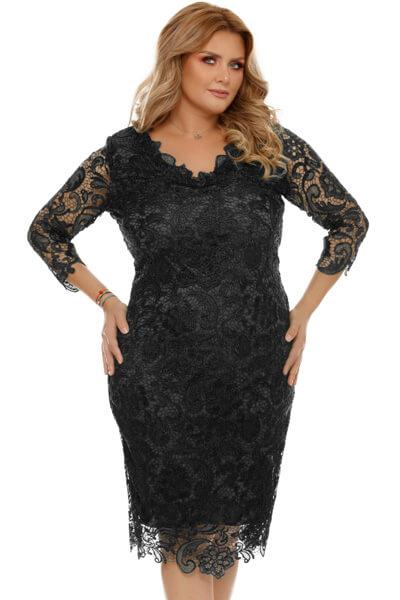 Rochie Plus Size Arella Neagra
