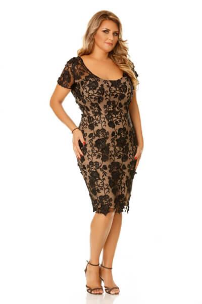 Rochie Plus Size Dalia Neagra