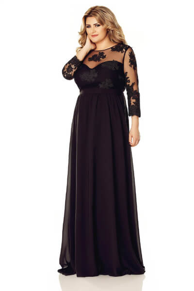 Rochie Plus Size Elissa Neagra