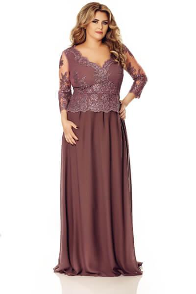 Rochie Plus Size Rose Pruna
